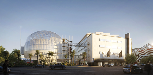 The Academy Museum of Motion Pictures is still under construction, but as completion nears, some details are starting to be fleshed out. (photo courtesy of the Academy Museum of Motion Pictures)