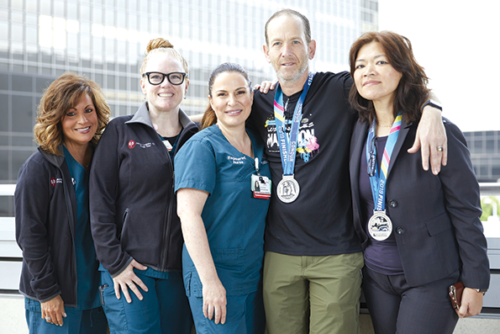 Former Cedars-Sinai patient Gregory Rutchik has run two marathons since recovering from a stroke in 2017. (photo courtesy of Cedars-Sinai Medical Center)