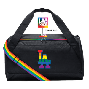 A ticket package for LGBT Night at Dodger Stadium on May 31 includes entry to the game against the Philadelphia Phillies and a Dodger LGBT-themed duffel bag. (photo courtesy of the Los Angeles Dodgers)