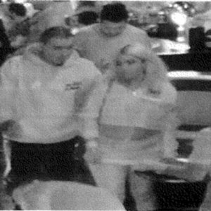 Police released a security camera image of the alleged suspect wanted for a hit-and-run on Vine Street shortly after the collision last November. (photo by Edwin Folven)