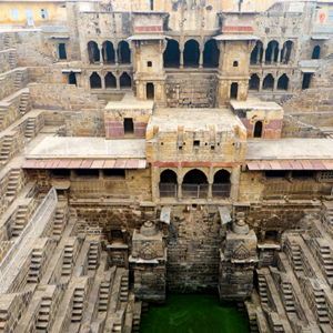 Stepwells, manmade structures that allow people to access the water table, are the focus of a new photo exhibit at the Fowler Museum at UCLA.  (photo courtesy of the Fowler Museum)