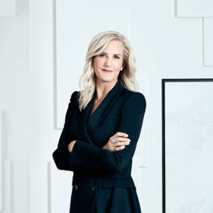 Carolyn Clark Powers, president of the MOCA board of trustees, announced that she will donate $10 million to allow for general admission to the museum to be free. (photo by Emily Shur/courtesy of the Museum of Contemporary Art)