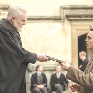 Professor Wright (Derek Jacobi) mentors a young J.R.R. Tolkien (Nicholas Hoult) in a new biopic about the famous author. (photo courtesy of Fox Searchlight)