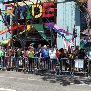 The LA Pride Parade in West Hollywood is one of many events scheduled for May and June to honor LGBTQ Pride. (photo courtesy of the city of West Hollywood)