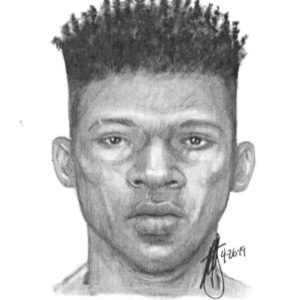 A police sketch of a suspect wanted for attempting to kidnap a young girl on April 25 was released in hopes it will lead to his arrest. (photo courtesy of the LAPD)