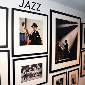 A photography exhibition at the Morrison Hotel Gallery in West Hollywood includes candid shots of famed musicians like Billie Holiday and Frank Sinatra. (photo by Andrew Mason)