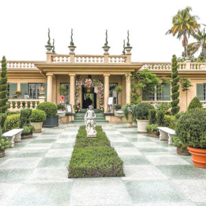 The Virginia Robinson Gardens 2019 Garden Tour and Showcase Estate includes tours of private gardens in Beverly Hills as well as the grounds and interior of the historic Robinson estate, and a luncheon and fashion show. (photo courtesy of Virginia Robinson Gardens)