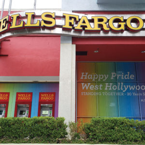 West Hollywood voted to discontinue banking with Wells Fargo and switch to Bank of the West, while using Union Bank on an as-needed basis. (photo by Cameron Kiszla)