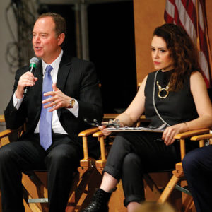 U.S. Rep. Adam Schiff and actor Alyssa Milano participated in a panel discussion on deepfake technology, which has been used to alter real video footage to show people saying and doing things that never happened. (photo courtesy of SAG-AFTRA)