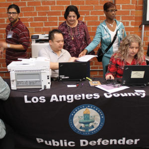 The Public Defender team worked a Proposition 47 event at UFCW Local 770 in Huntington Park. (photo courtesy of the L.A. County Public Defender's Office)