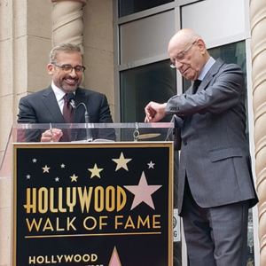 Actor Steve Carell spoke at frequent co-star Alan Arkin's Hollywood Walk of Fame ceremony on June 7. (photo by Cameron Kiszla)