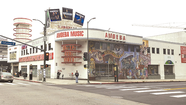 A 26-story, mixed-use project planned for the current site of Amoeba Music was approved by the Los Angeles City Council on June 25. (photo by Cameron Kiszla)