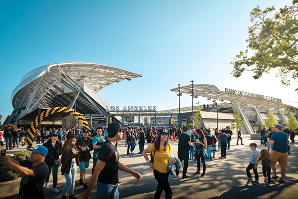 Los Angeles Football Club's Banc of California Stadium in Exposition Park was the grand prize winner in the Los Angeles Business Council's 49th Annual Architectural Awards. (photo courtesy of the Los Angeles Business Council)