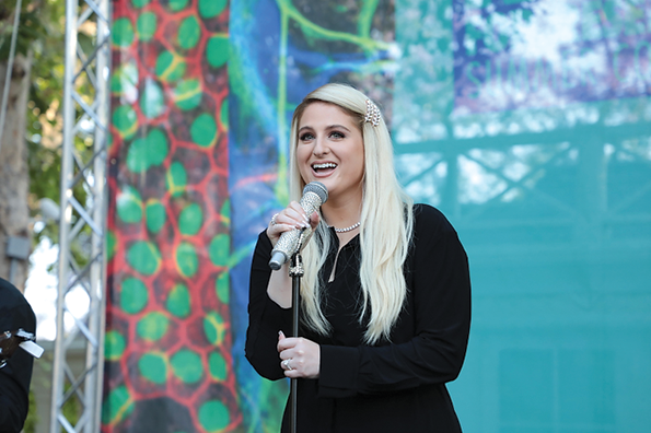 Grammy Award-winning singer and songwriter Meghan Trainor headlined the fourth annual Rock for Research, a fundraiser put on by the Cedars-Sinai Medical Center Board of Governors. (photo courtesy of Cedars-Sinai Medical Center)