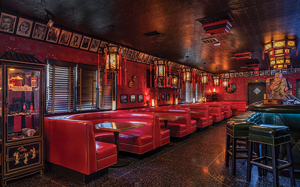 The Formosa's red booths have always been one of the café's most notable features. (photos by Maxim Shapovalov)