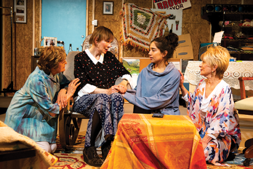 "Laura James, Lisa Richards, Gladys Bautista and Judith Scarpone star in ""Herland,"" a coming-of-age story about women young and old, which runs through June 23 at the Greenway Court Theatre. (photo by Philicia Endelman/courtesy of the Greenway Arts Alliance)"