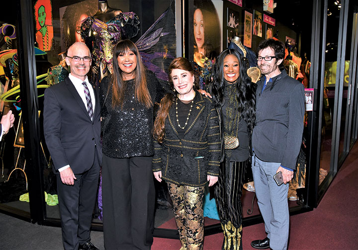 Los Angeles City Councilman Mitch O'Farrell, 13th District; Anita Pointer; Donelle Dadigan; Bonnie Pointer and Oscar-winning actor George Chakiris celebrated the new Pointer Sisters exhibit at the Hollywood Museum. (photo courtesy of the Hollywood Museum)