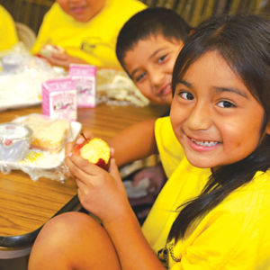 Students can enjoy nutritious meals at many school campuses throughout summer. (photo courtesy of the USDA)