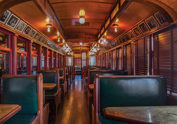 The Formosa's new operators, 1933 Group, received funding to help restore the café's trolley car section. (photos by Maxim Shapovalov)