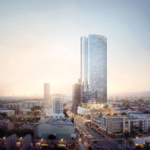 The family of developer Walter N. Marks is planning to build a 42-story apartment building at 5407 Wilshire Blvd. (photo courtesy of Richard Keating)