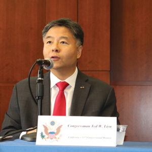 Lieu is introducing a bill to ban conversion therapy for the third time since he's been in Congress. It's the first time with Democrats holding the majority. (photo courtesy of U.S. Rep. Ted Lieu's office)
