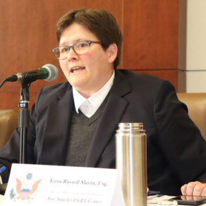 Terra Russell-Slavin, director of policy and community building at the Los Angeles LGBT Center (photo courtesy of U.S. Rep. Ted Lieu's office)