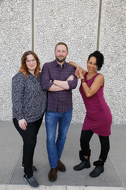Playwrights Laura Jacqmin (from left), Steve Yockey and Dominique Morisseau will have their work presented as part of Center Theatre Group's annual L.A. Writers' Workshop Festival on June 29 at the Kirk Douglas Theatre. (photo by Ryan Miller/Capture Imaging)