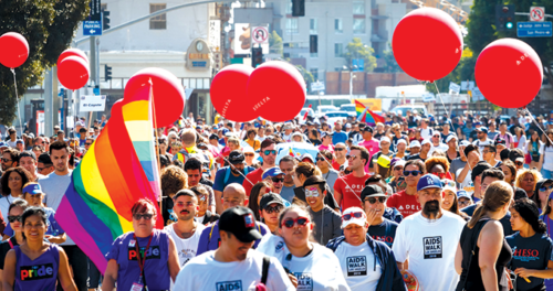 This October, thousands of people will march in the streets of Los Angeles to raise awareness and money for the fight against HIV/AIDS. (photo by Brian Lowe/courtesy of AIDS Walk Los Angeles)