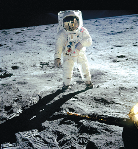 """Astronaut Buzz Aldrin, the second man to walk on the moon, plays a prominent role in """"Apollo 11: First Steps Edition."""" (photo courtesy of Statement Pictures for MacGillivray Freeman/CNN Films)"""