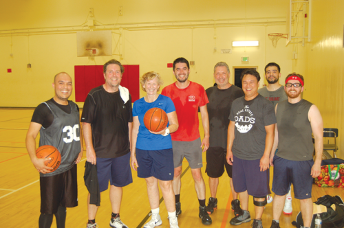 Barbara Brace's pickup basketball game started approximately 30 years ago. (photo by Cameron Kiszla)