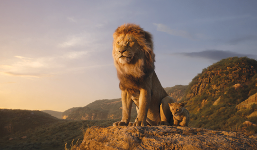 """The El Capitan Theatre's showings of """"The Lion King"""" feature photo opportunities at Pride Rock and with Timon and Pumbaa. (photo ©2019 Disney Enterprises, Inc./courtesy of the El Capitan Theatre)"""