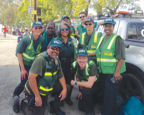 Members of the Sycamore Square Neighborhood Association recently underwent CERT training enabling them to better respond to problems following disasters. (photo courtesy of Conrad Starr)