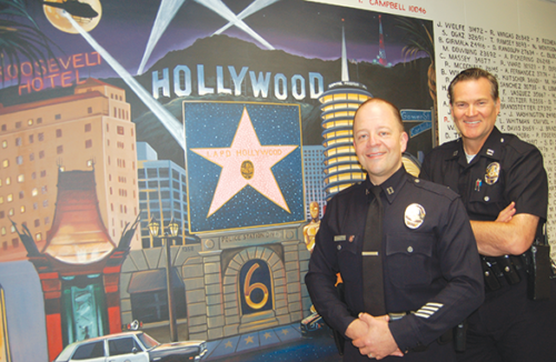 Capt. Steve Lurie (left) will be the new commanding officer of the LAPD's Hollywood Division, succeeding Commander Cory Palka, who will be assigned to the department's Operations West Bureau. (photo by Edwin Folven)