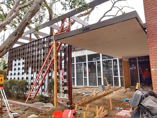 The former Gardner Street Library is being turned into a bridge housing center for women experiencing homelessness. (photo courtesy of Los Angeles City Councilman David Ryu, 4th District)