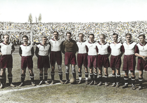 A new exhibit at the Los Angeles Museum of the Holocaust focuses on devastation the Nazis wreaked on the FC Bayern Munich soccer organization. (photo courtesy of the Los Angeles Museum of the Holocaust)