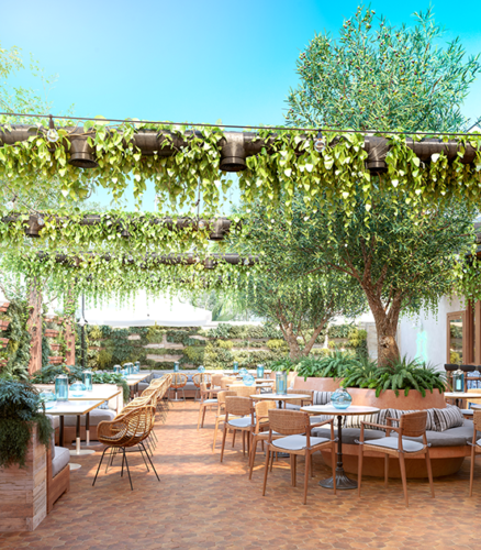 West Hollywood's first consumption lounge will use plants and a ventilation system to contain smoke and odors. (rendering courtesy of Lowell Farms: A Cannabis Café)