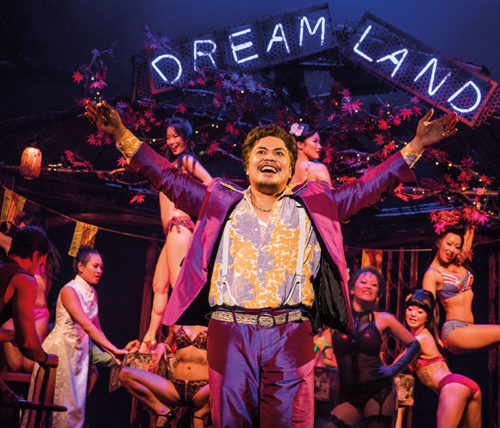 "Red Concepción stars as ""The Engineer"" in the Hollywood Pantages production fo Miss Saigon, now playing through August 11. (photo by Matthew Murphy)"