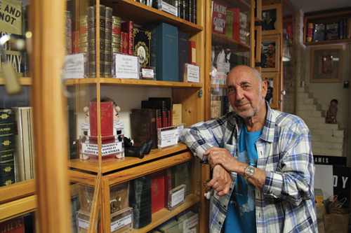 Harvey Jason has owned Mystery Pier Books since 1998 with his son, Louis Jason. (photo by Rebecca Moretti)