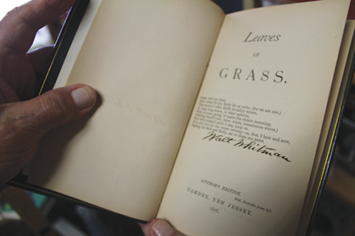 "Mystery Pier Books is proud to have a first-edition copy of ""Leaves of Grass,"" signed by Walt Whitman. Find this and other treasures at the West Hollywood gem. (photo by Rebecca Moretti)"