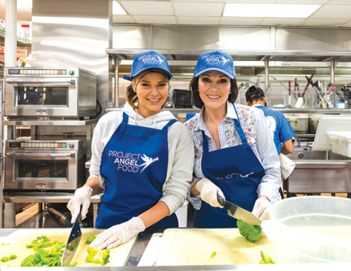 Television personality Lisa Vanderpump (right) joined Project Angel Food to prepare and deliver the nonprofit's 12-millionth meal. (photo courtesy of Project Angel Food)