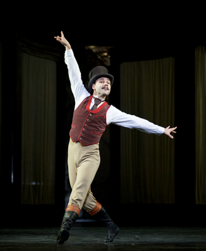 "Alexander Campbell appears as Bratfisch in the Royal Ballet's performances of ""Mayerling"" in the Dorothy Chandler Pavilion. (photo by Alice Pennefather)"