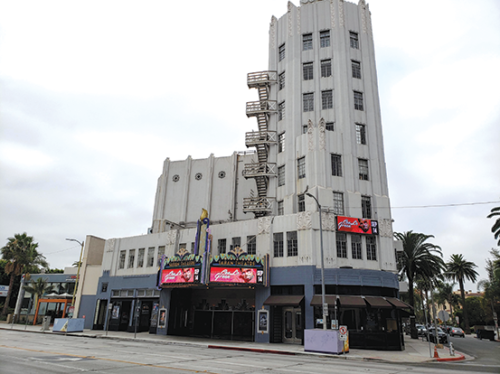 The Saban Theatre on Wilshire Boulevard in Beverly Hills is nearly 90 years old. (photo by Cameron Kiszla)