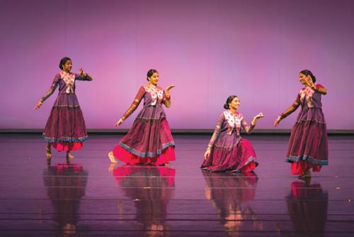 Dancers Nisha Shaaschandra, Manasa Kothapalli, Dheitshaa Bala and Sana Jayaawal participated in last year's Short+Sweet Hollywood Festival. (photo by John Merrell)