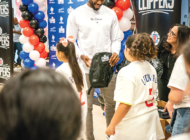 Leonard gives 1 million backpacks to families