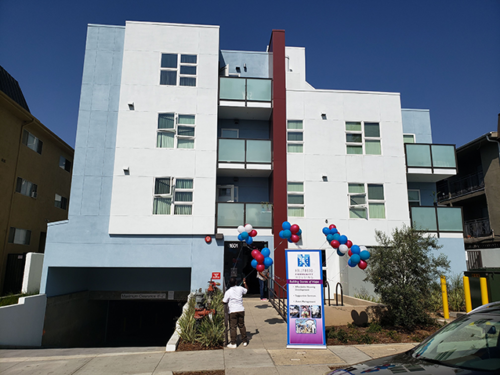 The Coronel Apartments in East Hollywood contain 54 affordable housing units that range from one to three bedrooms. (photo by Cameron Kiszla)