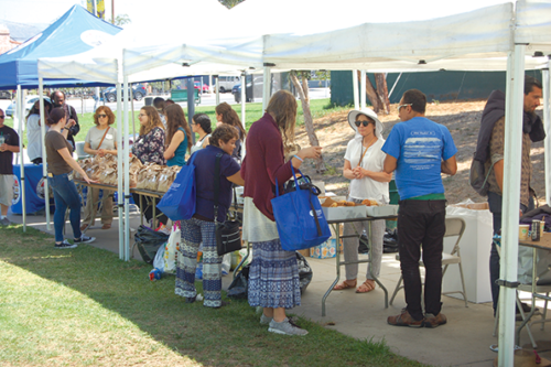 People experiencing homelessness received food and water, clothes, medical care and more at the Midtown Homeless Connect Day on Aug. 27. (photo by Cameron Kiszla)