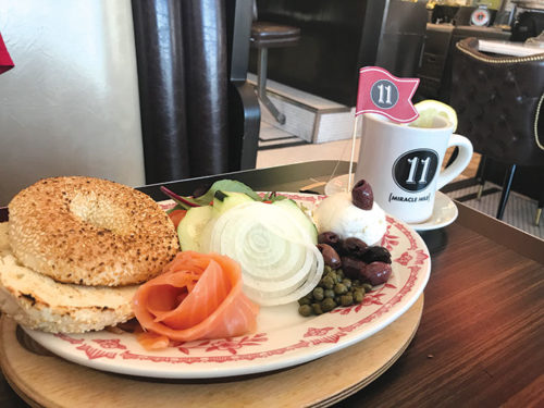 Order the lox platter with fresh bagels from the Bagel Broker or the Lox Box to take home and enjoy. (photo by Jill Weinlein)