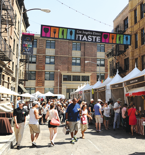 Next weekend, The Taste will celebrate the Southern California culinary scene at the Paramount Studios backlot. (photo courtesy of The Taste)