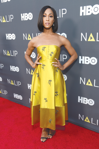 """MJ Rodriguez of """"Pose"""" was honored for her acting at the NALIP Media Summit's 2019 Latino Media Awards. (photo by Michael Kovac/Getty Images for NALIP)"""