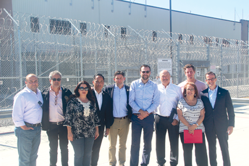 State legislators from the Jewish and Latino caucuses visited an ICE detention center and met with asylum seekers at the U.S.-Mexico border. (photo courtesy of the office of Sen. Ben Allen)